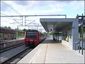 Danshøj station under Vestbanen